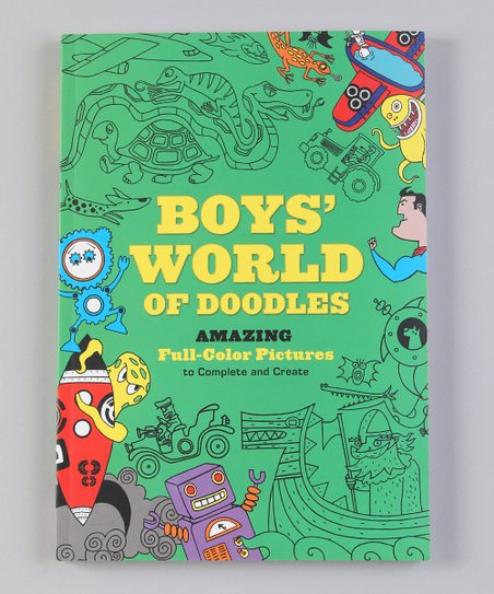 Boys World of Doodles Paperback