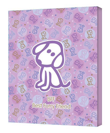 Purple 'Best Furry Friend' Wall Art