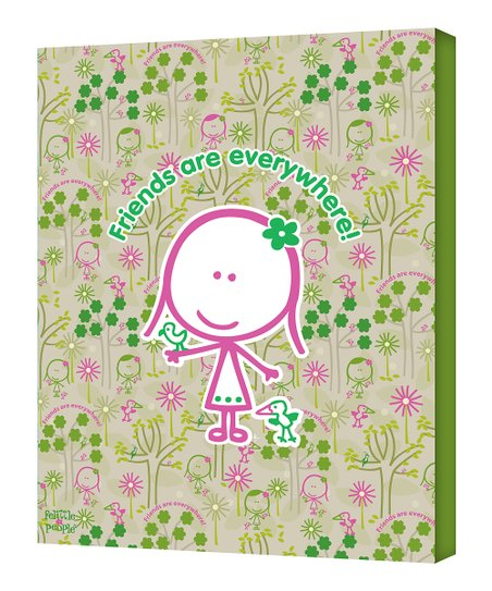 Green & Pink 'Friends are Everywhere' Wall Art