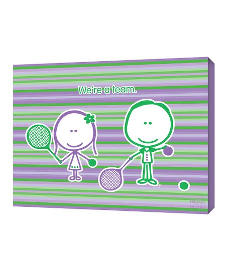 Green & Purple Tennis 'We're A Team' Wall Art