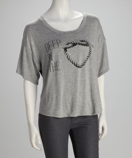 Southward Heather Gray 'Deep In The Heart' Tee
