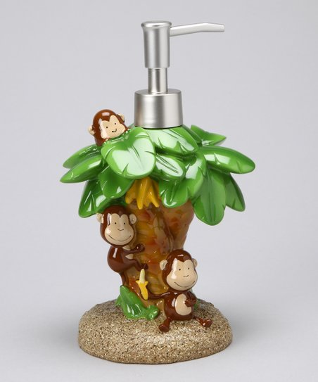 Brown Monkey Soap Dispenser