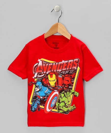 Red Avengers Group Tee - Toddler