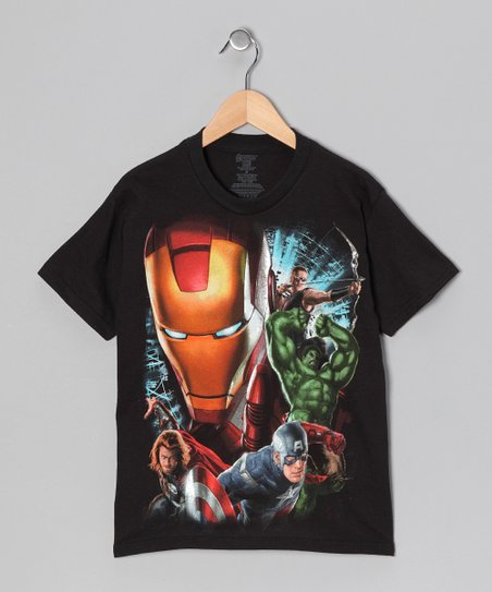 Black Avengers Action Scenes Tee - Kids