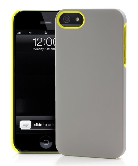 Yellow &amp; Gray UN Colors Deflector Case for iPhone 5