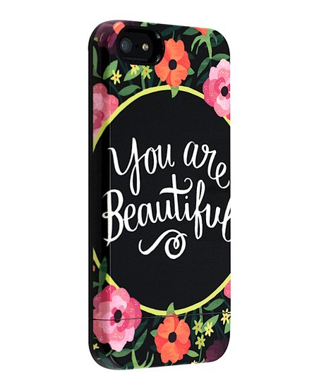 'You Are Beautiful' Floral Capsule Case for iPhone 5