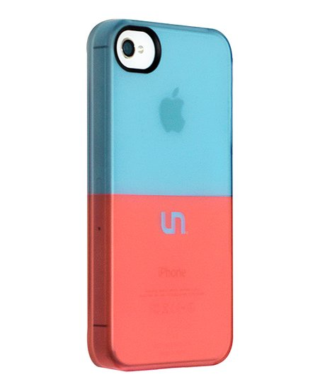 Robin Egg &amp; Coral Sorbet Case for iPhone 4/4S