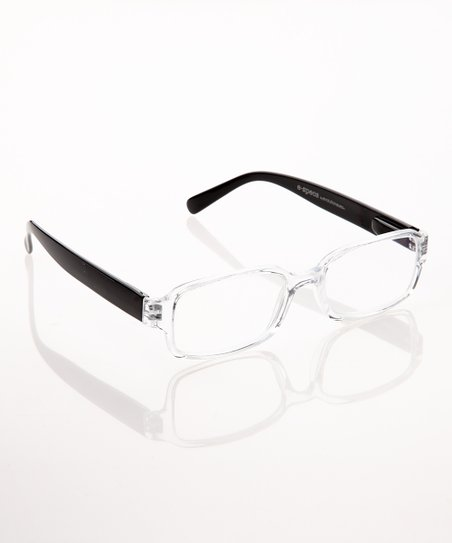 Crystal & Black E-Specs Computer Glasses