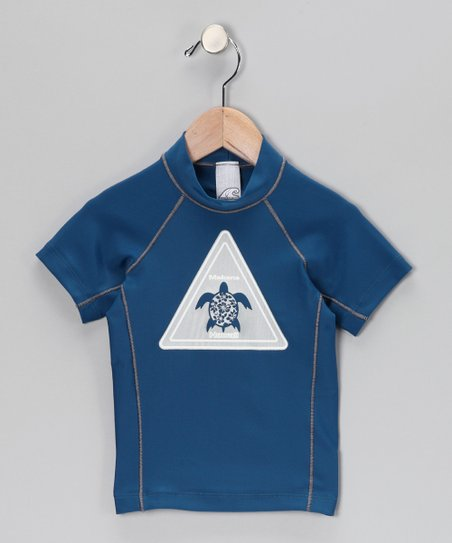Makena Pacific Blue Tortoise Rashguard - Boys