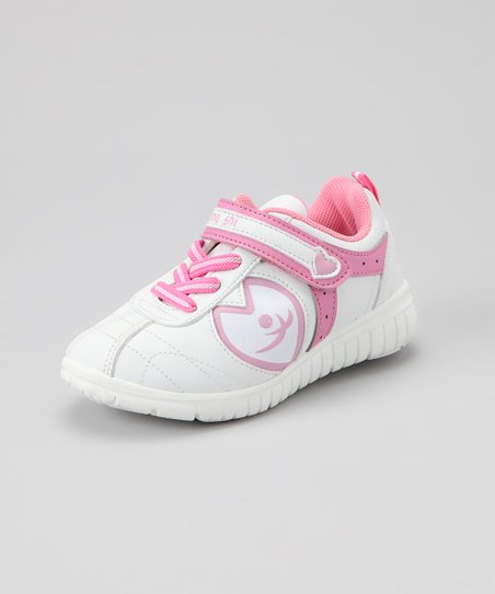 White & Pink Alice Sneaker - Kids