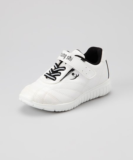 White &amp; Black Elliot Sneaker - Kids
