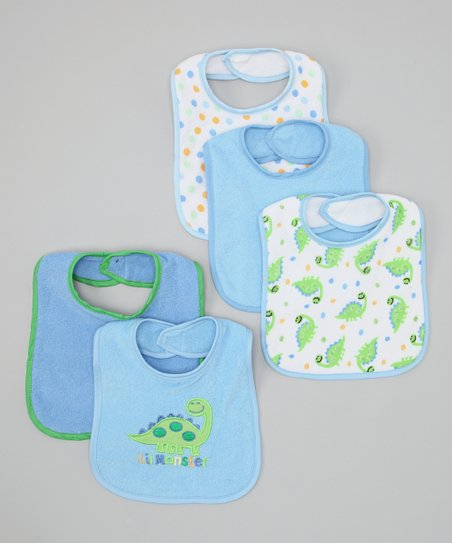 Blue 'Lil Monster' Bib Set