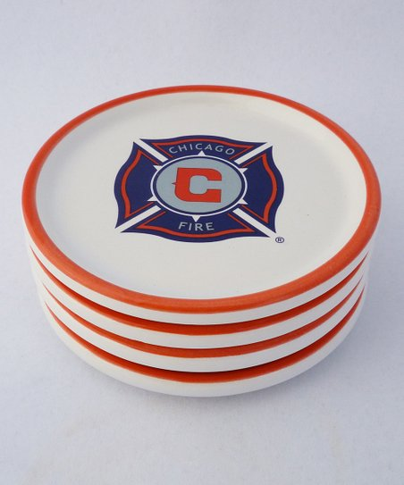 Agnik Design Chicago Fire Coaster - Set of Four