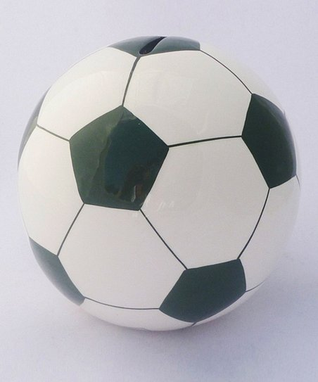 Agnik Design Dark Green Soccer Ball Money Bank