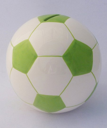 Agnik Design Green Soccer Ball Money Bank