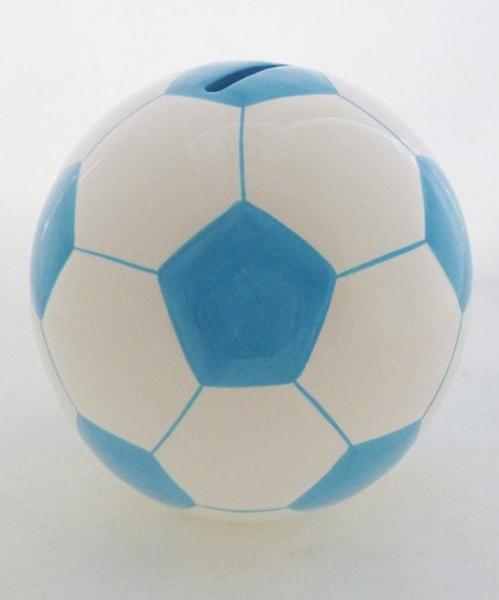 Agnik Design Light Blue Soccer Ball Money Bank