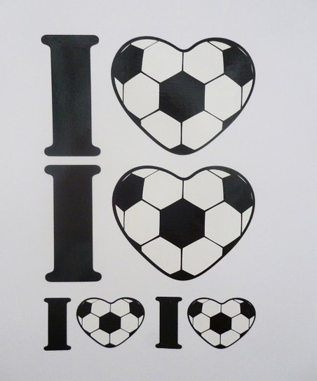Agnik Design Soccer Heart Wall Decal Set