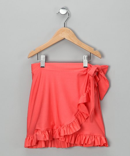 Orange Swim Skirt - Girls