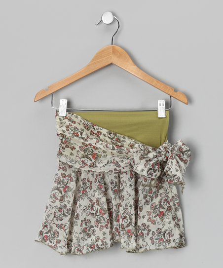 Ivy Floral Side-Tie Wrap Skirt - Girls