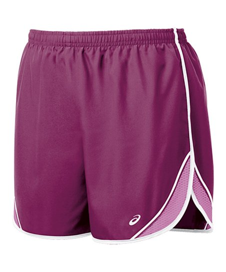 Magenta & Mulberry Split Shorts - Women