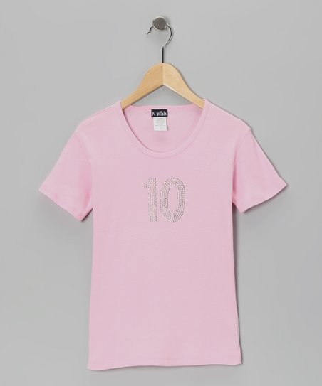 Pink '10' Short-Sleeve Tee - Toddler & Girls