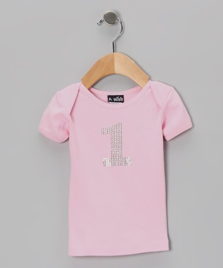 Pink '1' Lapneck Tee – Infant