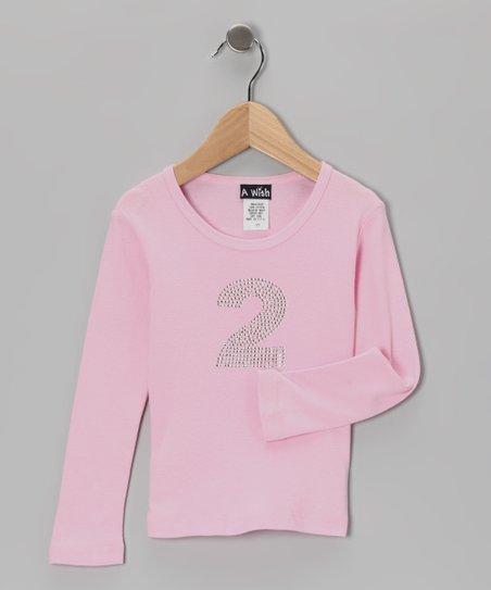 Pink '2' Long-Sleeve Tee – Toddler