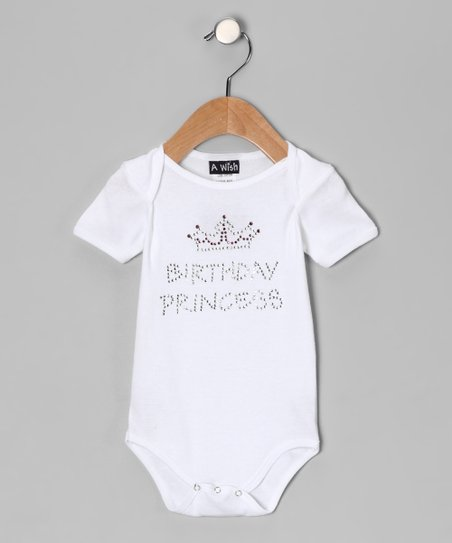 White 'Birthday Princess' Bodysuit - Infant