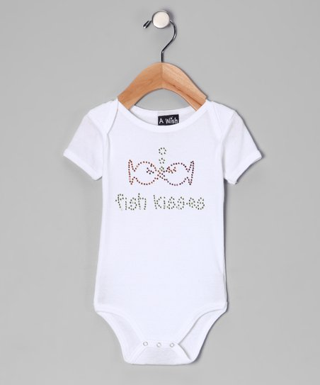 White &#039;Fish Kisses&#039; Bodysuit - Infant