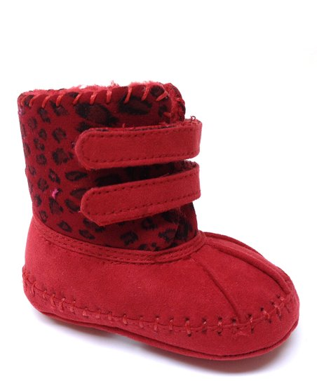 Red Double-Strap Boot