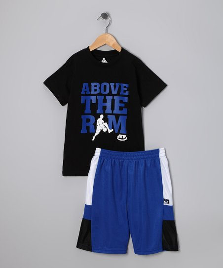 Black Between the Legs Tee & Shorts - Boys