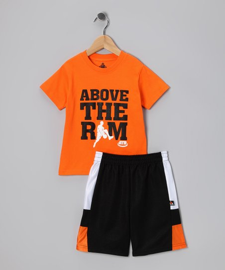 Orange Between the Legs Tee & Shorts - Boys