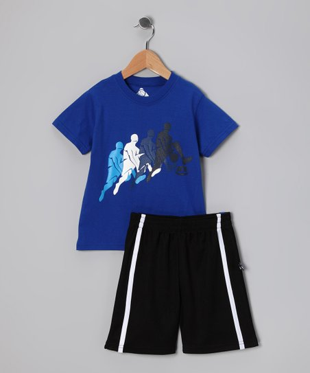 Blue 'ATR' Tee & Shorts - Toddler