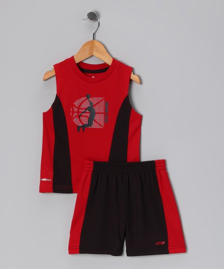 Red Slam Dunk Tank & Shorts - Infant, Toddler & Boys