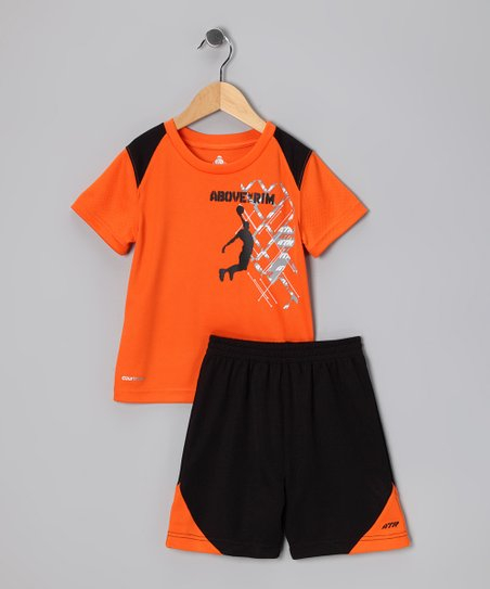 Orange Slam Dunk Performance Tee &amp; Shorts - Infant &amp; Toddler