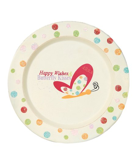 'Happy Wishes & Butterfly Kisses' Decorative Plate