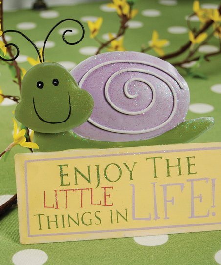 Snail 'Enjoy the Little Things' Figurine
