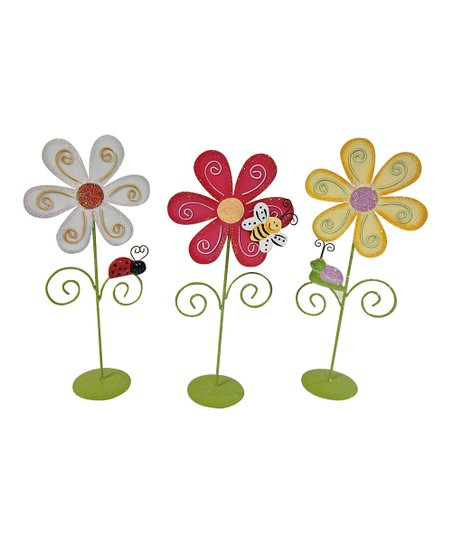 Flower & Insect Figurine Set