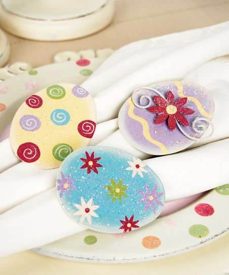 Easter Egg Napkin Ring Set