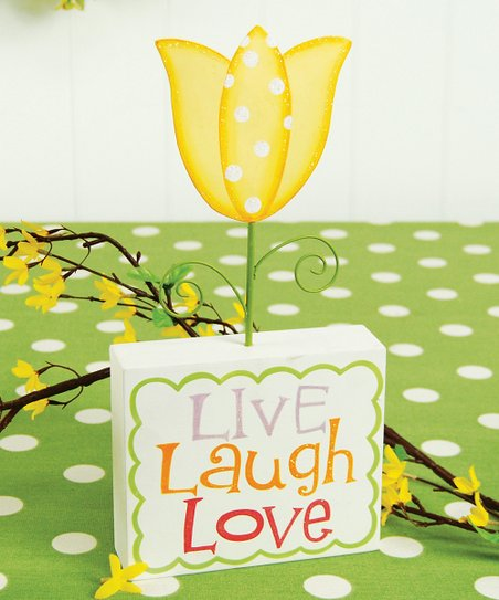 &#039;Live Laugh Love&#039; Tulip Figurine