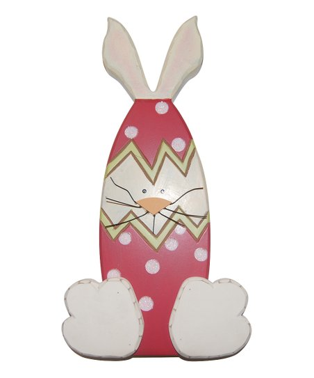 Red & White Bunny Figurine