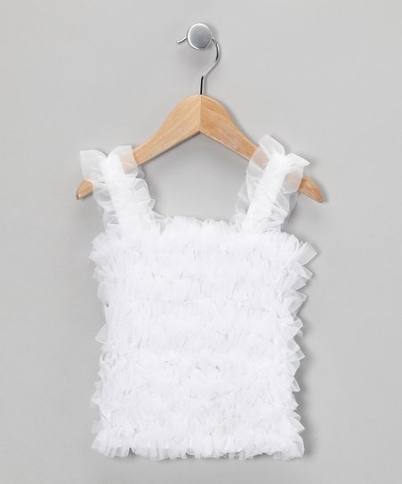 White Ruffle Tank - Infant, Toddler & Girls
