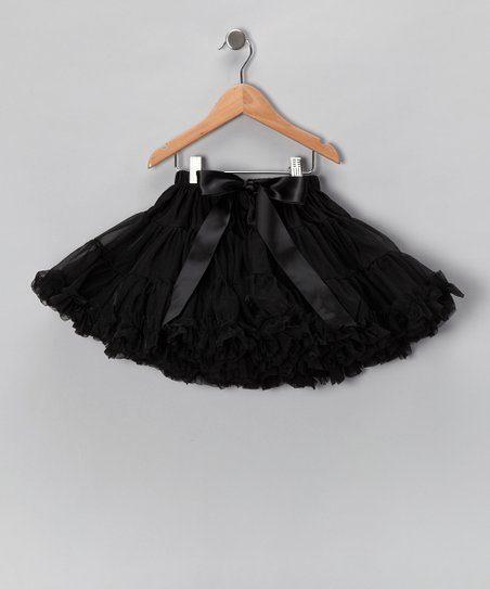 Black Bow Petite Pettiskirt - Infant, Toddler & Girls
