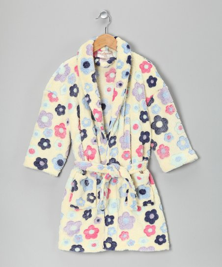 Aegean Apparel Yellow Daisy Bathrobe - Girls