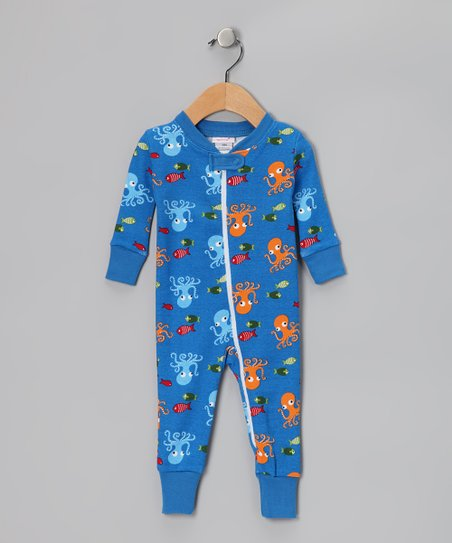 Blue Octopus Organic Playsuit - Infant