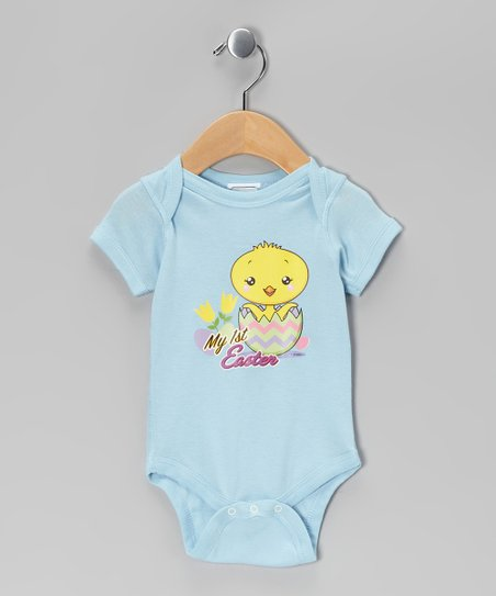 Airwaves Light Blue 'My First Easter' Bodysuit - Infant