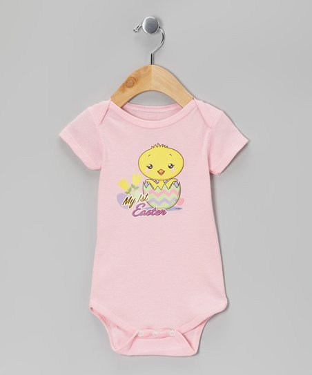 Airwaves Light Pink 'My First Easter' Bodysuit - Infant