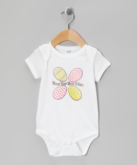 Airwaves White 'True Colors' Bodysuit - Infant