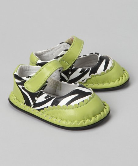 Green Zebra Monica Leather Mary Jane
