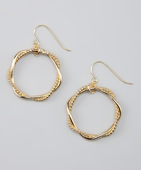 Gold Intertwined Hoop Earrings